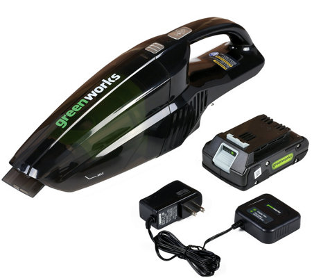 Greenworks G24 24V Hand Vac with battery & charger