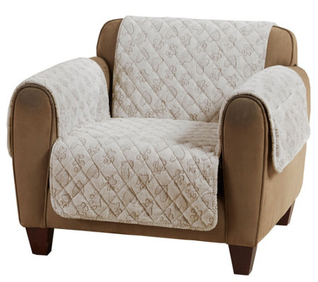Surefit Plush Quilted Pet Love Chair Furniture Cover