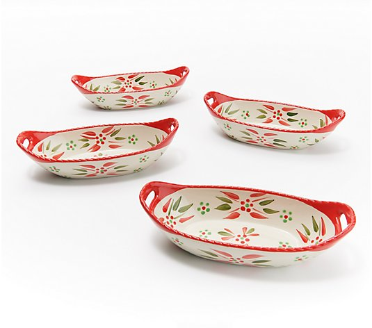 Temp-tations Set of 4 Mini 12-oz Centerpiece Bowls