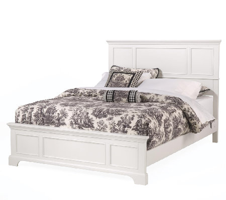 Home Styles Naples White King Bed