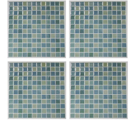 RoomMates Blue Mosaic StickTILES - 4 Pack