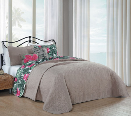 Avondale Manor Tropical Paradise 5 Piece Queenquilt Set