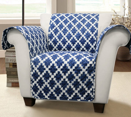 Wellow Ikat Armchair Furniture Protector by Lush Decor
