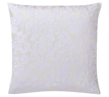 "Charisma Medici 20"" Floral Embroidered Decorative Pillow"