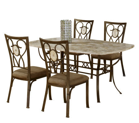 Hillsdale Furniture Brookside 5 Piece Rectangular Dining Set