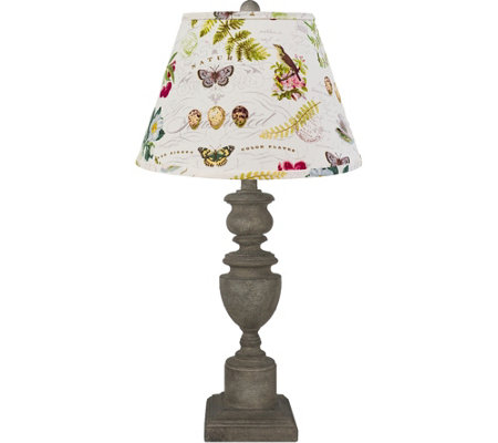 "Flora and Fauna 28"" Lamp by Valerie"