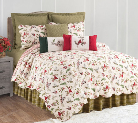 Sprig Birds Full/Queen Quilt Set by Valerie