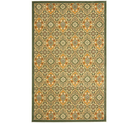 Treasures Medallions Persian Power-Loomed  4' x6' Rug