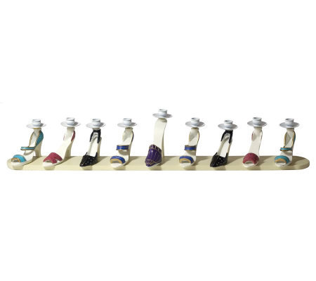 Copa Judaica High Heel Shoes Menorah