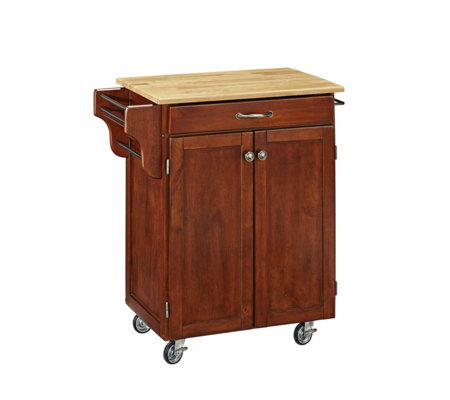 Home Styles Create A Cart Cherry Base W Naturawood Top Sm