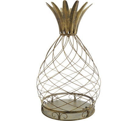 """As Is"" Indoor/ Outdoor Metal Pineapple or Tree Accent by Valerie"
