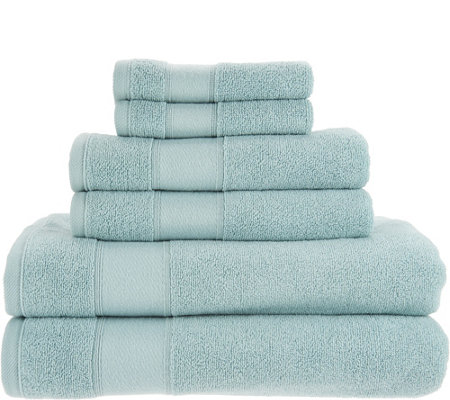 """As Is"" Casa Zeta-Jones 100% Turkish Cotton 6 Piece Towel Set"