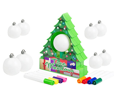 TreeMendous Ornament Decorating Kit w/ 9 Ornaments by Lori Greiner