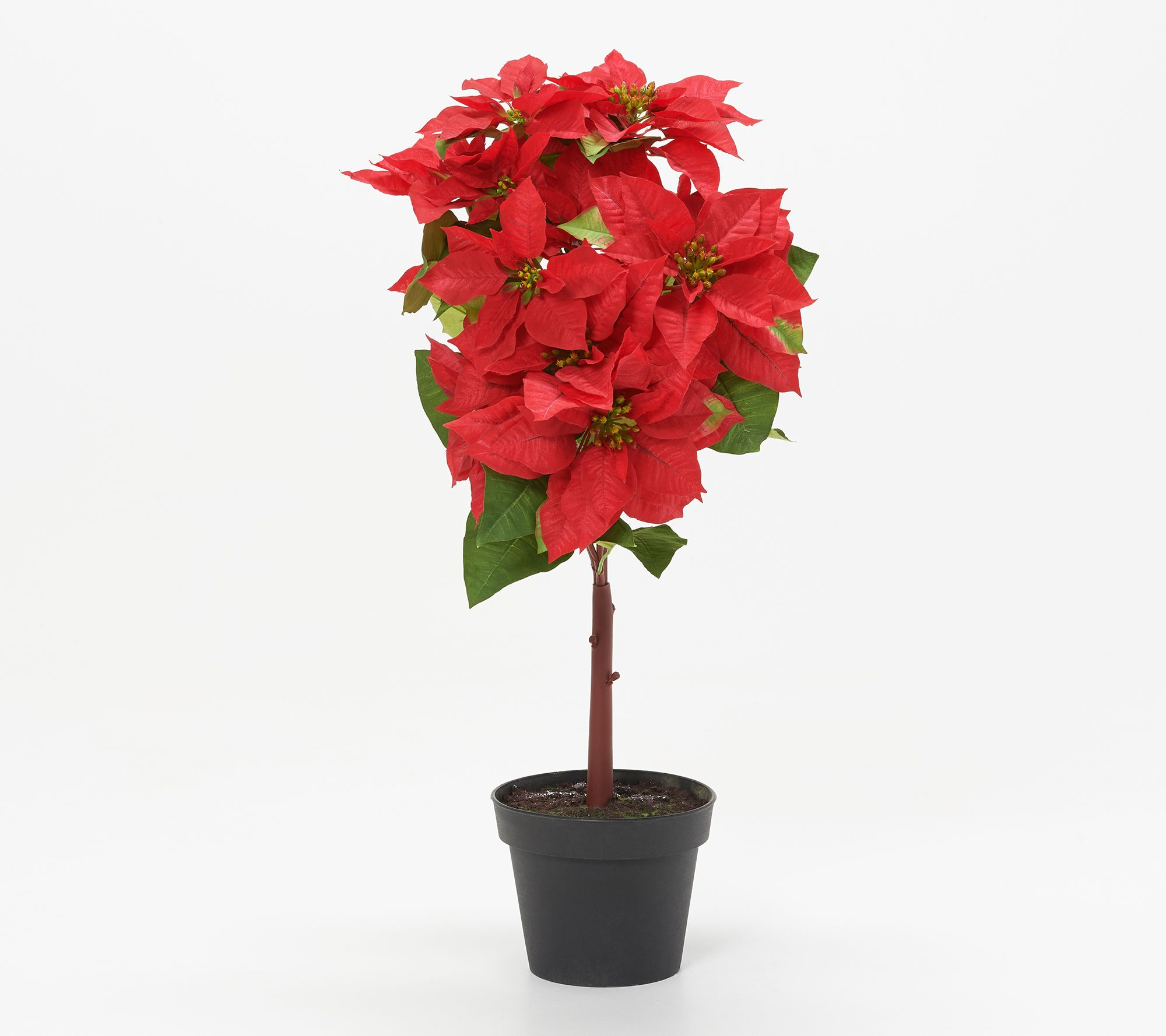 32% off a faux Poinsettia tree plant
