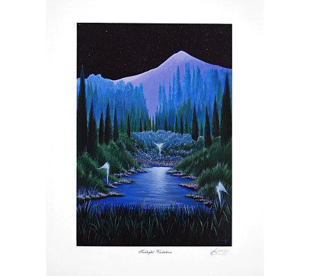 Twilight Visitation Print by Artist of Hope Steven Lavaggi