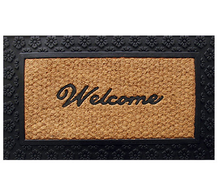 Geo Crafts Tuffcor Flat Weave Welcome Door Mat