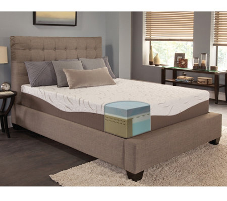 "Energize! 12"" Gel Memory Foam Twin Mattress"