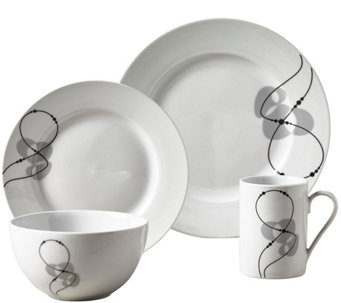 Tabletops Gallery 16-Piece Dinnerware Set - Jacqueline - H293543  sc 1 st  QVC.com : gallery tableware - pezcame.com