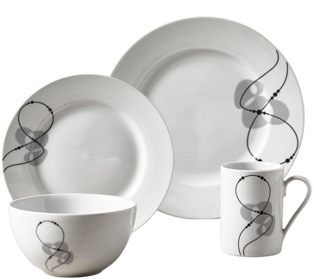 Tabletops Gallery 16-Piece Dinnerware Set - Jacqueline