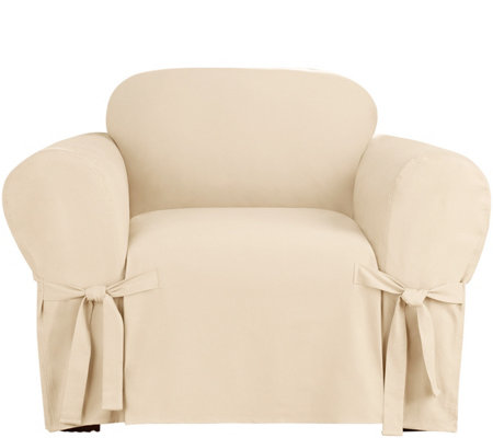 Sure Fit Heavyweight Cotton Duck Chair SlipCover