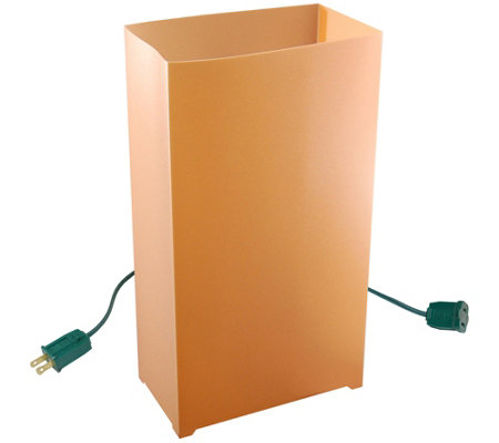 Lumabase Set Of 10 Tan Electric Luminarias