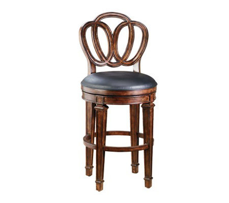 Hillsdale Furniture Dover Bar Stool with Leather Seat