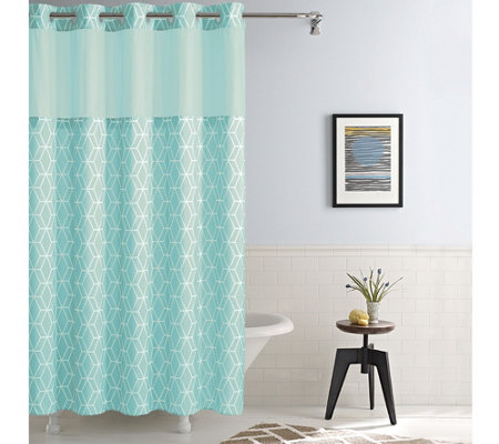 Merveilleux Hookless Prism Shower Curtain With Built In Liner