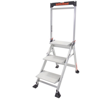Little Giant Lightweight 3 Step Jumbo AluminumStep Ladder