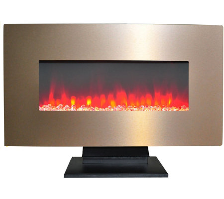"Cambridge 36"" Electric Fireplace w/ Crystal Rock Display"