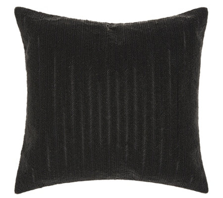 "Michael Amini Beaded Stripes 18"" x 18"" Throw Pillow"