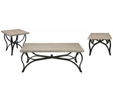 Amazing Scilla 3 Pc Coffee And End Table Set By Acme Furniture Qvc Com Ocoug Best Dining Table And Chair Ideas Images Ocougorg