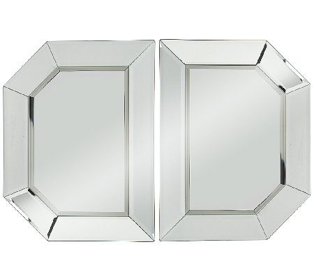 2 Piece Beveled Glass Mirror Sections By Valerie