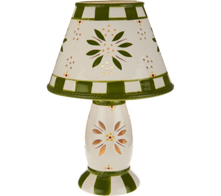 "Temp-tations 8"" LED Battery Operated Old World Lamp"