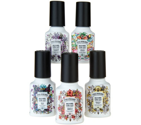 Poo-Pourri Set of (5) 2-oz Bathroom Deodorizers w/Gift Boxes