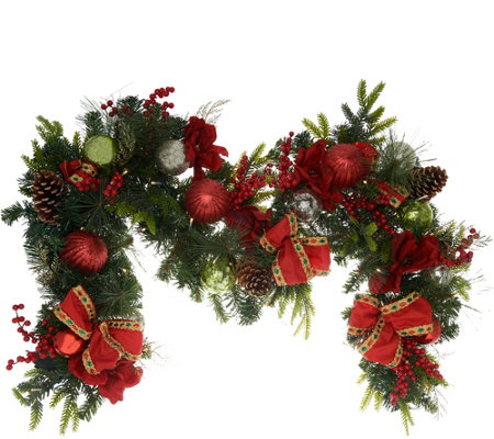 Indoor/Outdoor Illuminated 6' Holiday Cheer Garland by Valerie