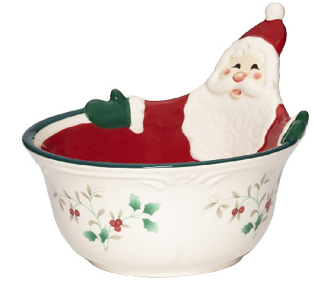 Pfaltzgraff Winterberry Figural All-Purpose Bowl, Santa