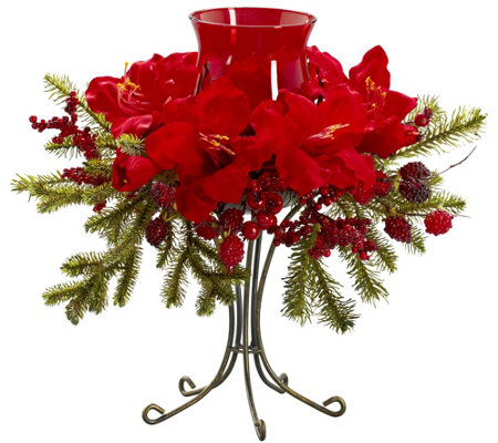 Amaryllis Candelabrum by Nearly Natural