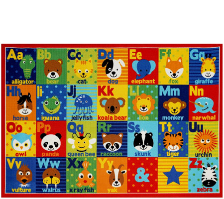 "Smithsonian Alphabet 7'10"" x 10' Area Rug"