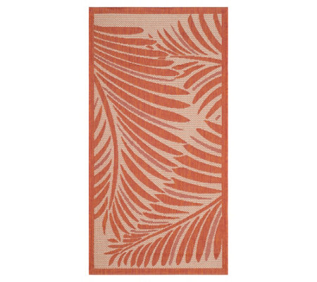 "Martha Stewart Tropic Palm 2'7"" x 5' Rug"