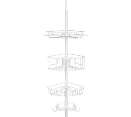 Lakeview Four Shelf Tension Pole Caddy In White