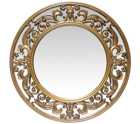 Infinity Instruments Victoria 23 5 Brushed Goldtone Mirror