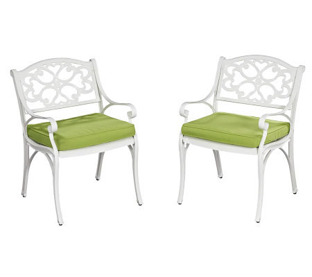 Home Styles Biscayne Outdoor Arm Chair Pair w/Cushion