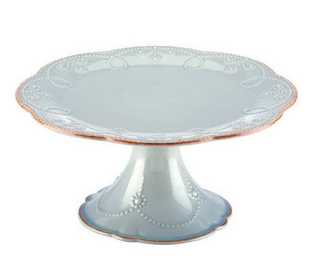 Lenox French Perle Pedestal Cake Stand