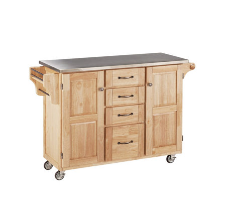 Home Styles Large Create a Cart - Natural w/Stanless Top