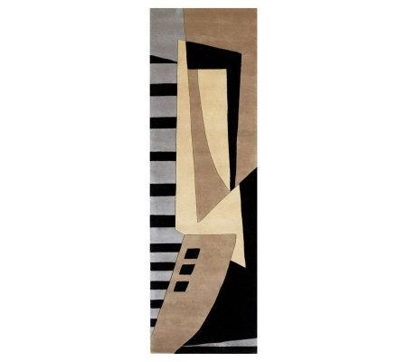Momeni New Wave Abstract 2 6 X 12 Handmade Wool Runner