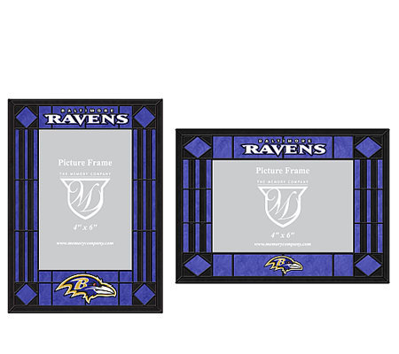NFL Baltimore Ravens Set of 2 Stained Glass Picture Frames — QVC.com