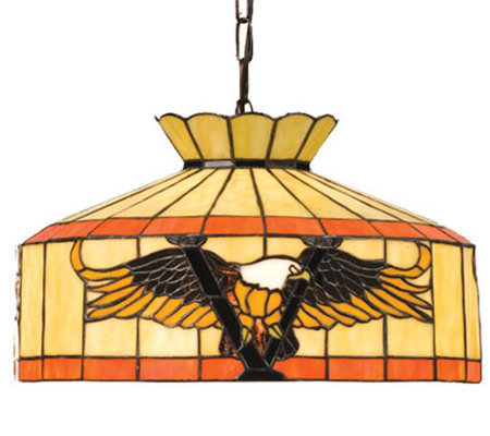 "Tiffany Style 16""W Victory Eagle Swag Pendant Light"