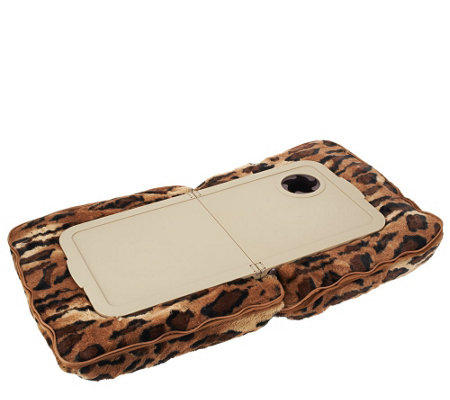 Faux Fur Pillow Tray with Cup Holder by Lori Greiner