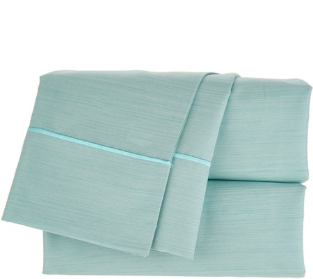 Home Reflections QN Microfiber Sheet Set with Embroidered Hem