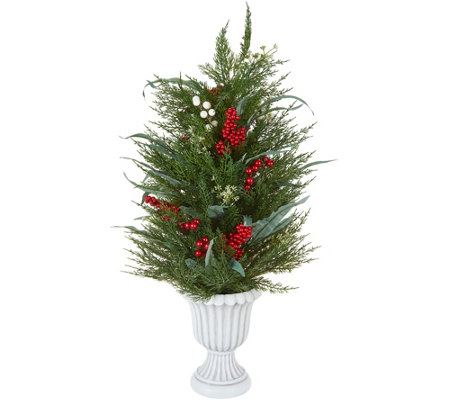 "Martha Stewart 30"" Cedar and Eucalyptus Topiary Tree in Urn"